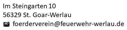 Adresse Verein